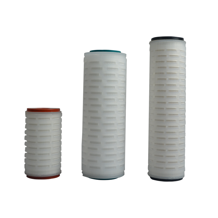 China factory DOE SOE Polypropylene pleated 5 micron cartridge filter for chemical industry filtration