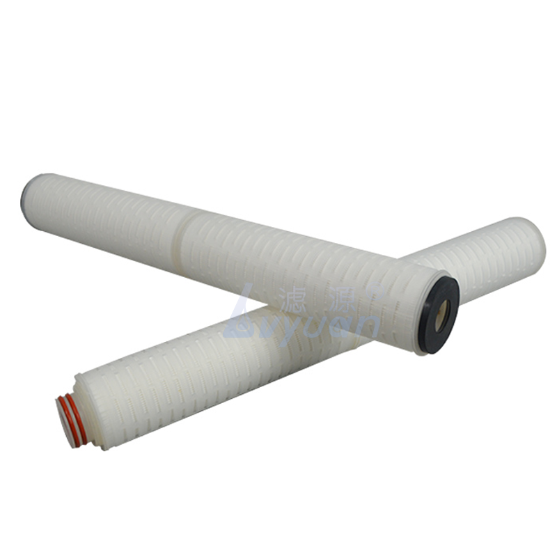 High quality 0.1 microns 10 20 inch pleated PP Nylon membrane filter cartridge for wine/liquid/ro/chemical filter treatment