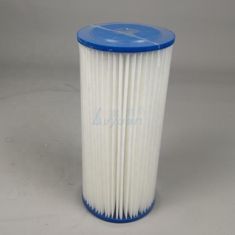 Manufacturer Folded PE filtros de sedimentos big blue 10 inch water filter cartridge for for big blue 20