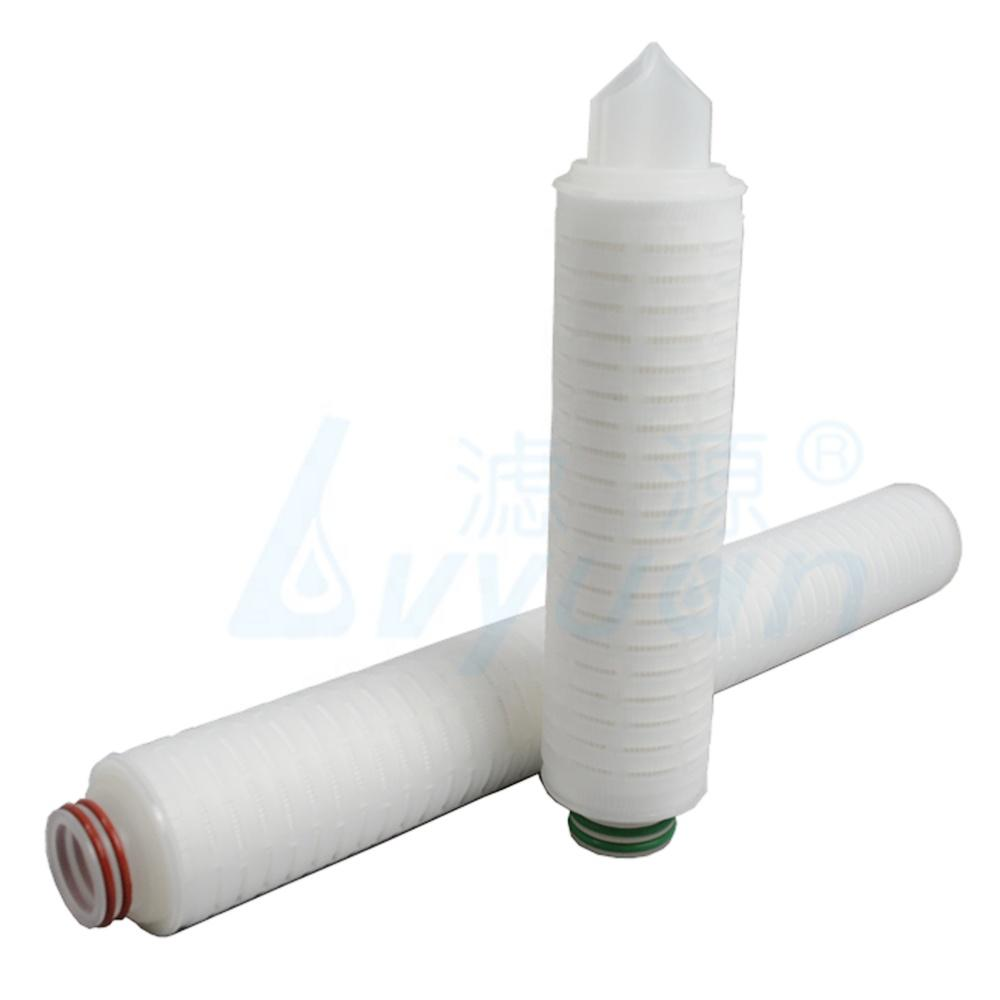 20 inch 2 micron pleated water filter cartridge/candle type filter cartridge for bottle water