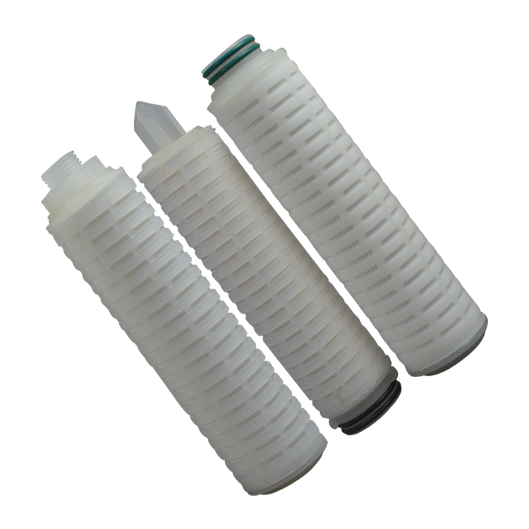 pleated hydrophobic ptfe filter cartridge for Drinking Water Chlorine Removal