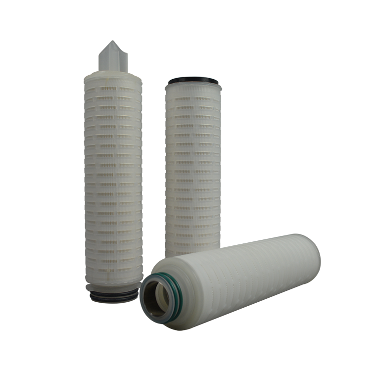 Absoluted 0.10.22 micron filter cartridge20 inch china PES pleated filter cartridge