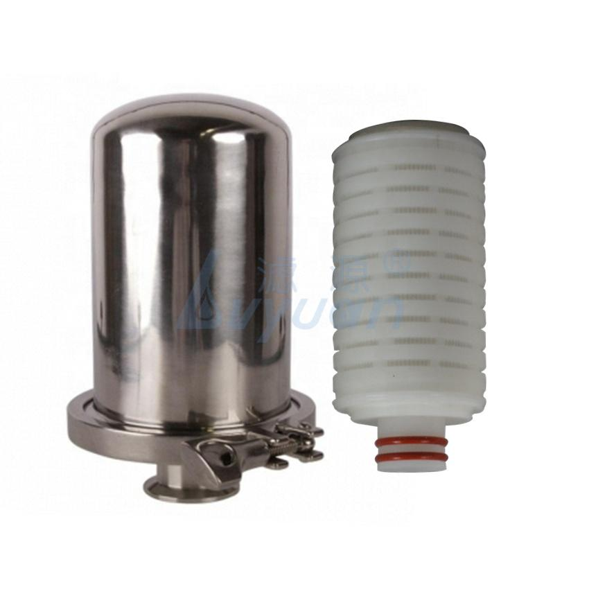 Pharmacy industry tank vent filtration 0.1 0.2 5 Micro Membrane pleated Polypropylene PP PTFEWater Air Tank Filter cartridge