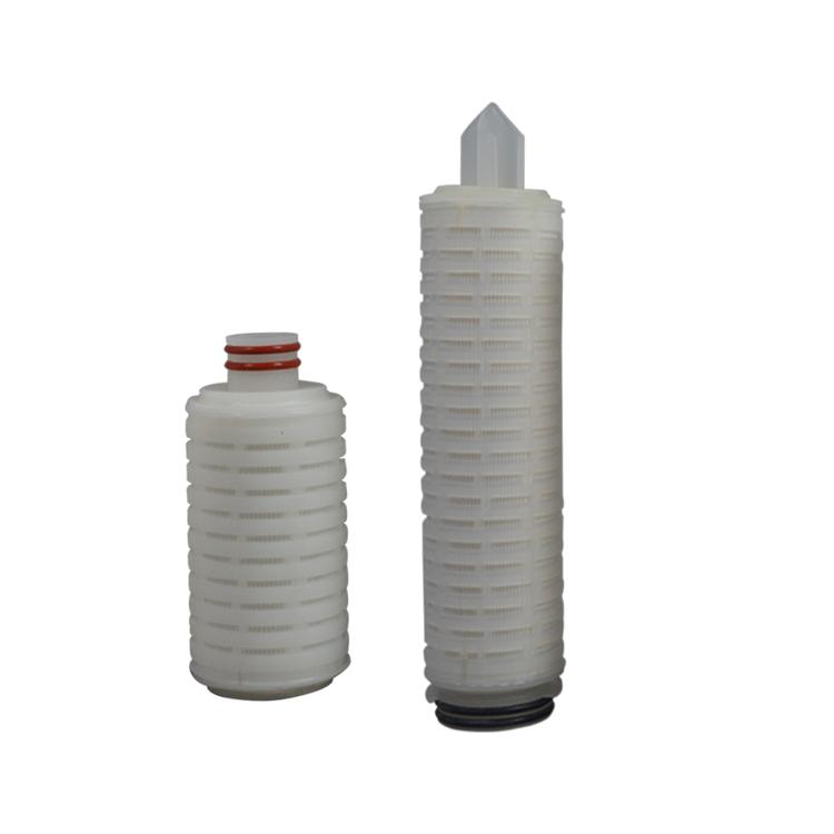 DOE SOE end cover PP/PTFE/PES/PVDF membrane cartridge filter 0.1 micron pleated cartridge filter