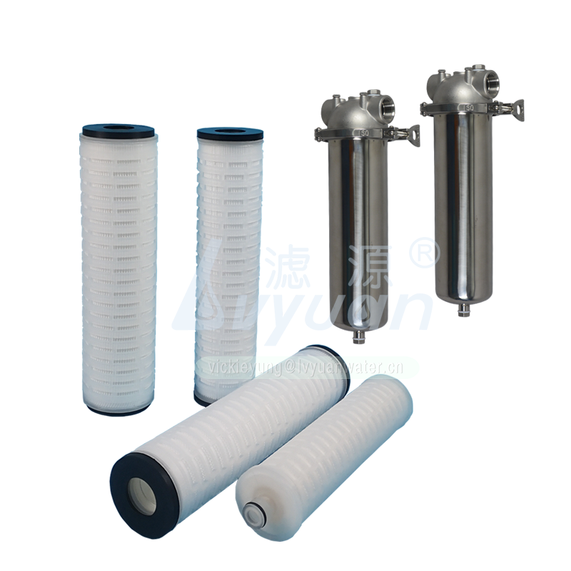 Liquid water filter 10 inch 5 microns industrial pp pleated filter with vacuum packing/EPDM gasket