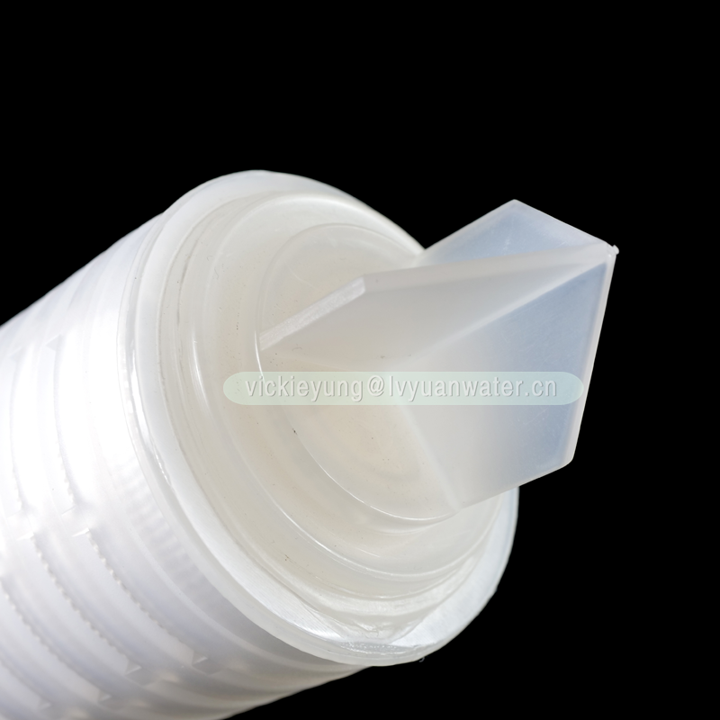 Industrial Polypropylene PP 5 10 micron 10 20 30 40 inch pleated filter cartridge with fin/222/226/215 adaptor