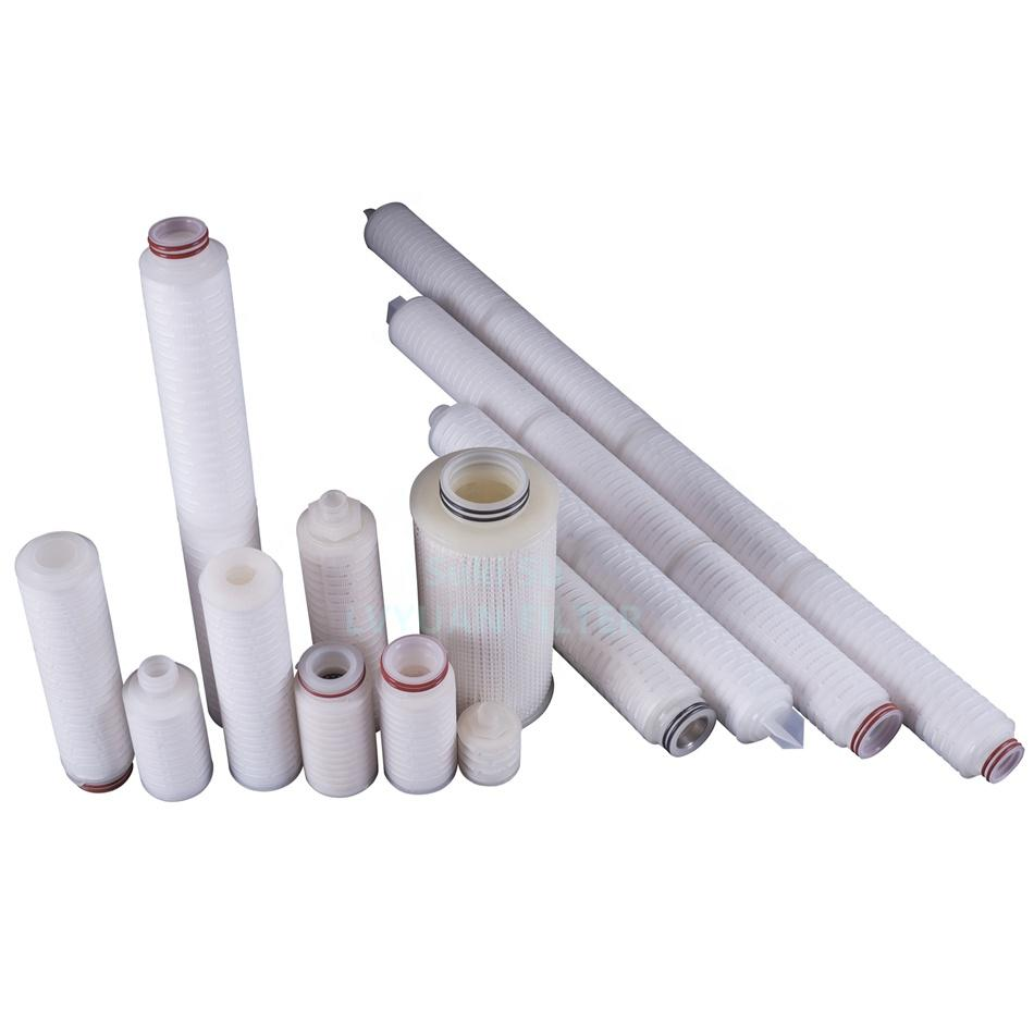 10 20 30 inch 0.22 micron microporous pleated PES membrane filter 0.2micron cartridge for final water filtration