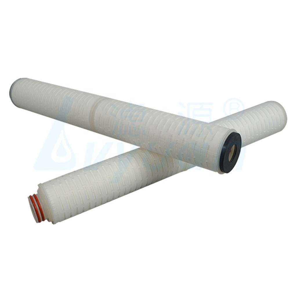 Good factory price 10 microns pleated fiber glass media industrial water pre filter with 40 inch EPDM 222/flat/fin end-cap