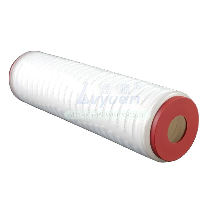 0.1/5 micron polypropylene PP pleated water filter cartridge