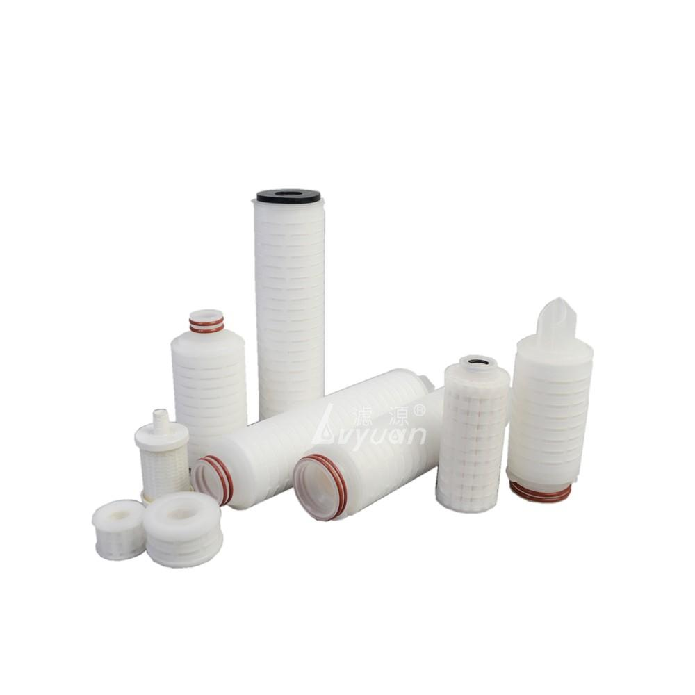 10 inch pleated filter 0.2 0.45 micron ptfe membrane cartridge filter with stainless steel filter core (222)