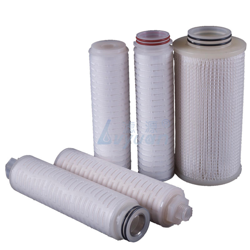 10 inch Polypropylene PP pleated 5 10 micron 226 222 adapter water filter cartridge with PP plastic core