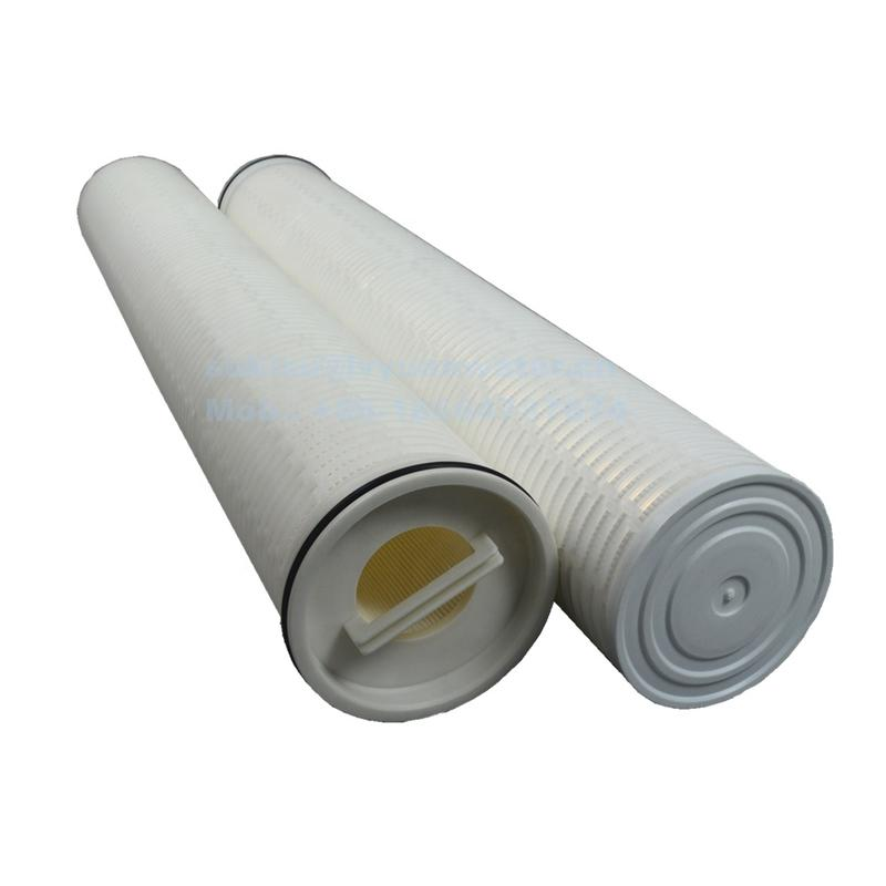 Big filtration area 10/20/30/40 inch 1 microns glass fiber pleated PP netting cartridge filter for power plant water treatment
