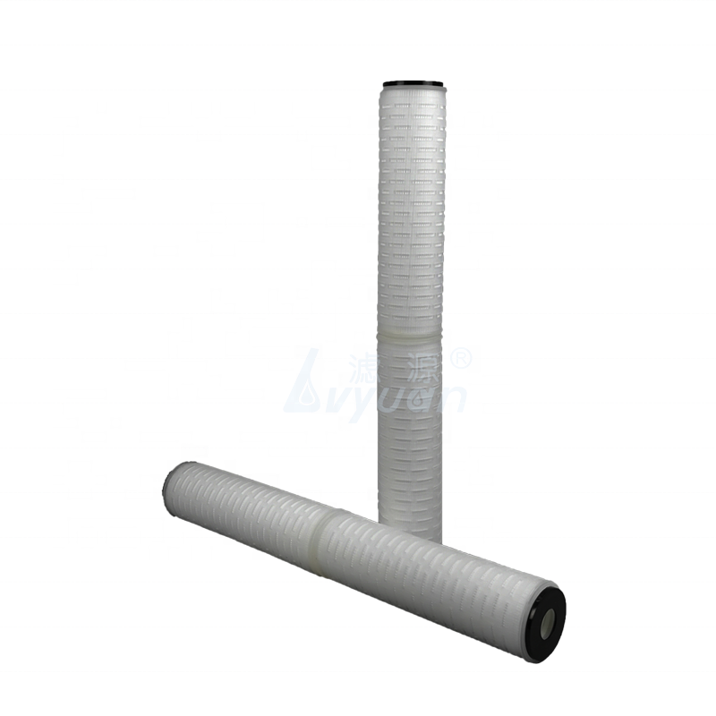 Manufacture micropore PP pleated 10/20 inch water cartridge filter with 5 micron PP filter membrane