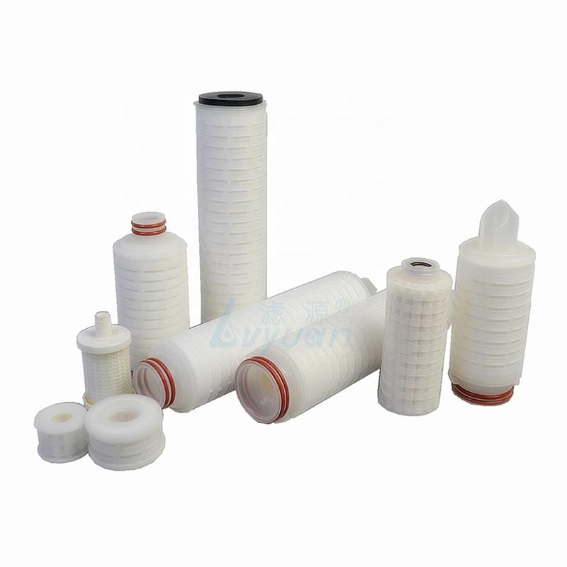 China Guangzhou factory custom mini PP cartridge filter 0.2um pleated filter for printing ink liquid filtration