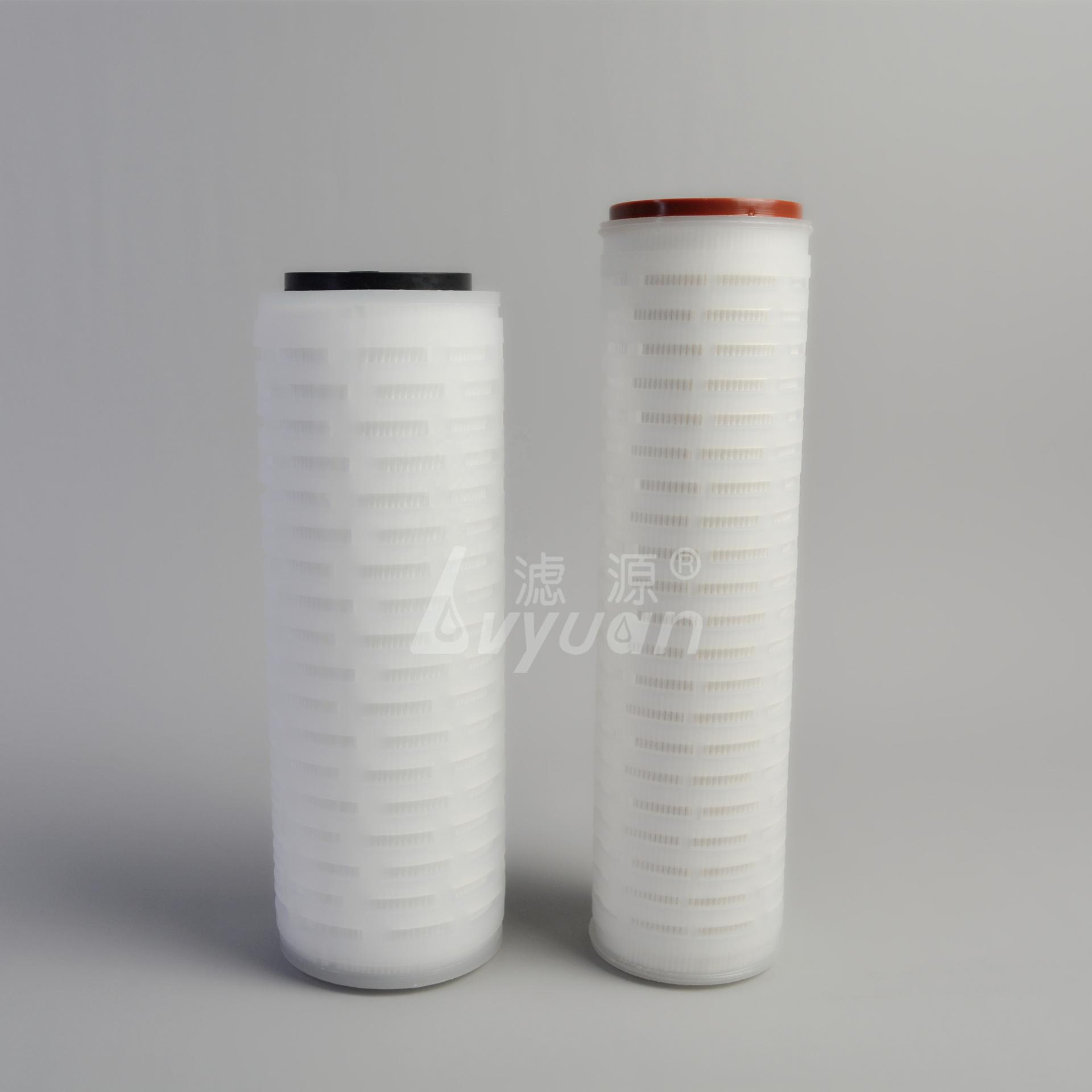 Hot sale Pleated membrane water filter/Filter Cartridge 10 20 30 40 inchfor water