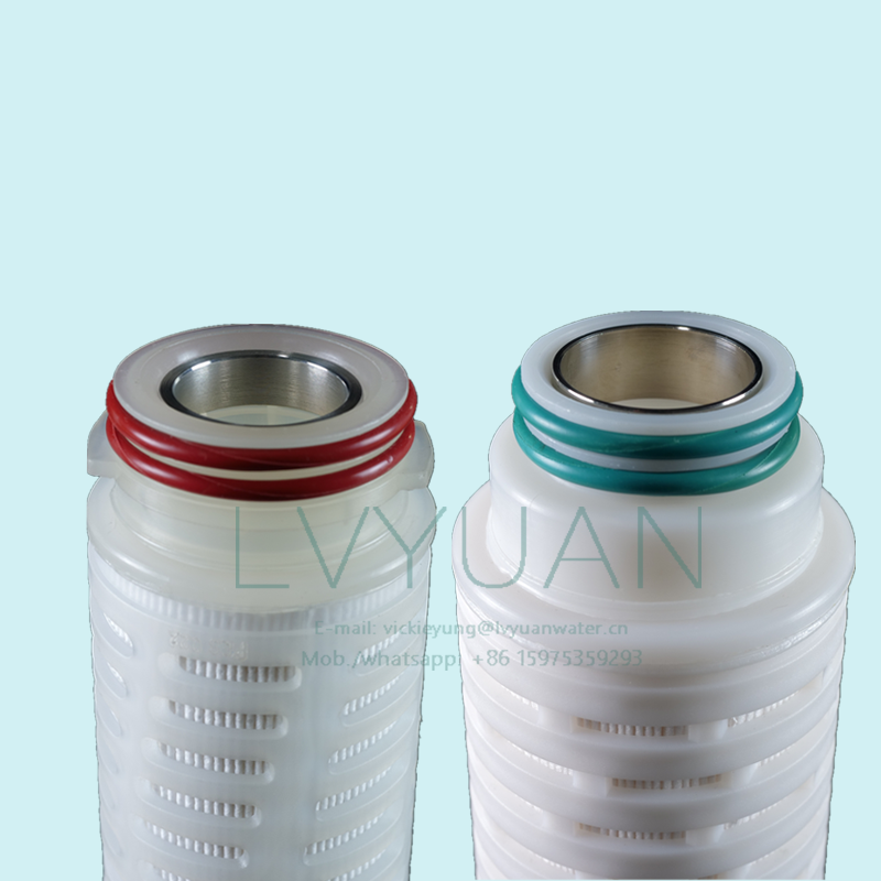 Absoluted microns rating 10/20 inch PTFE membrane filter cartridge with 222 226 stainless steel o ring end cap