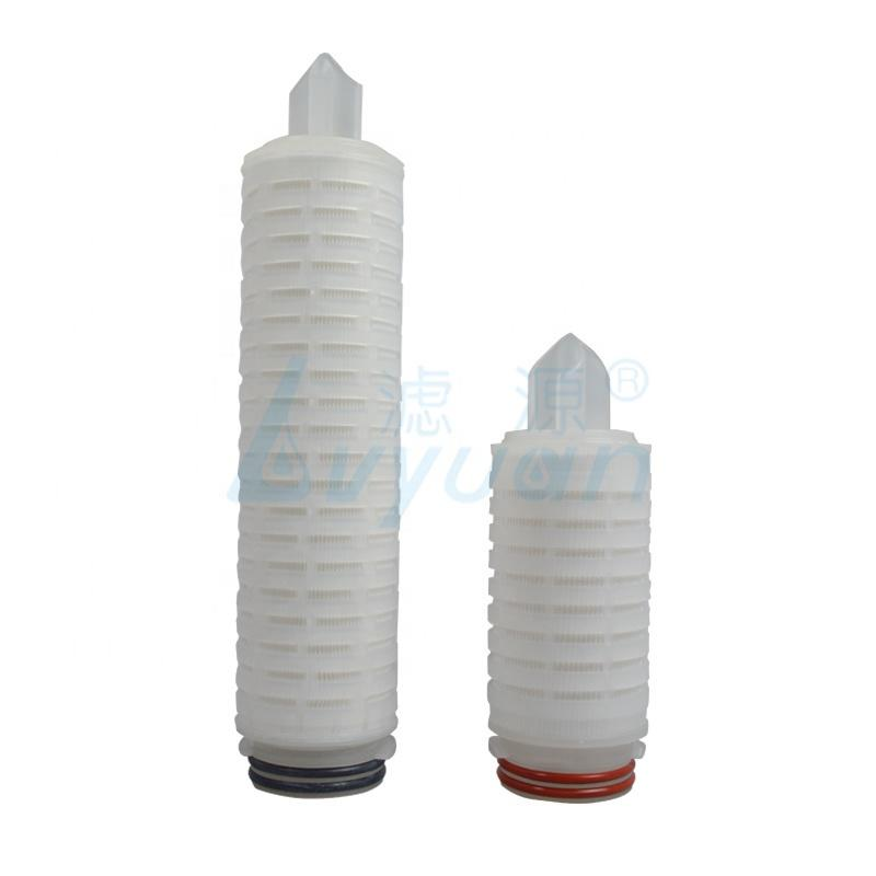 0.2 micron good filtration pleated water filter cartridge with nylon 6 filter media