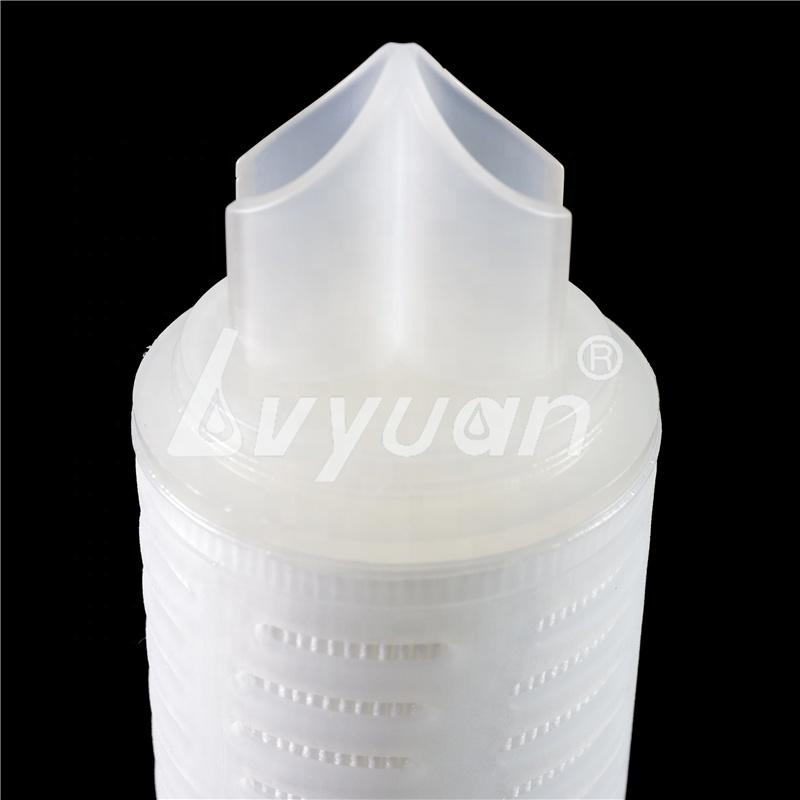 Fin End Caps 0.2 Micron Microporous pleated PP water Filter Cartridge for liquid filtration treatment