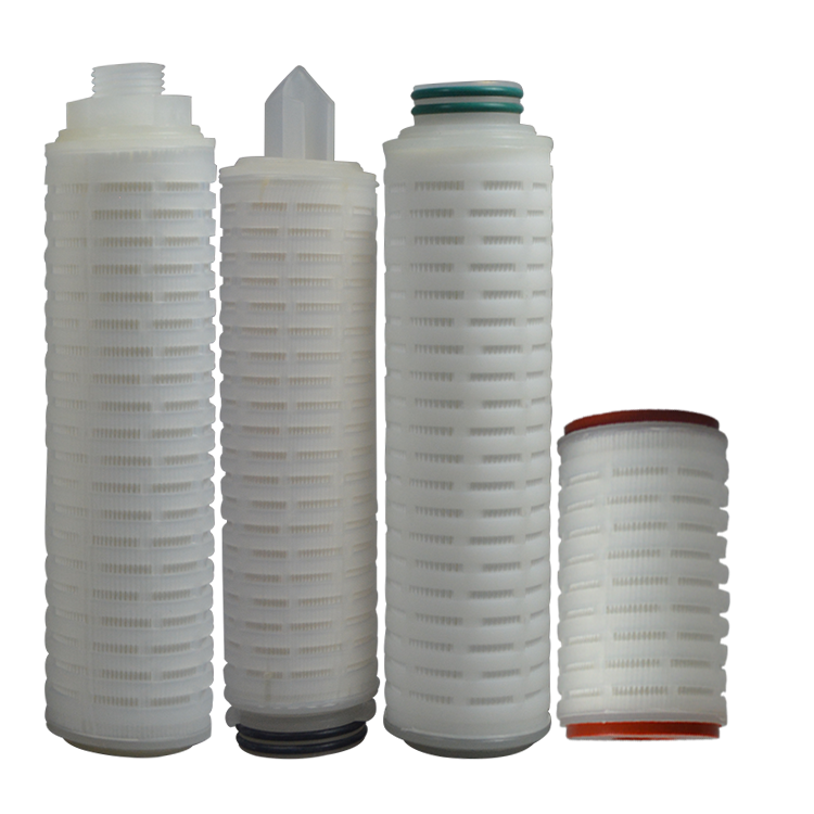 10 20 30 40 inch polypropylene pleated PP filter cartridge/PTFE pleated filter cartridge