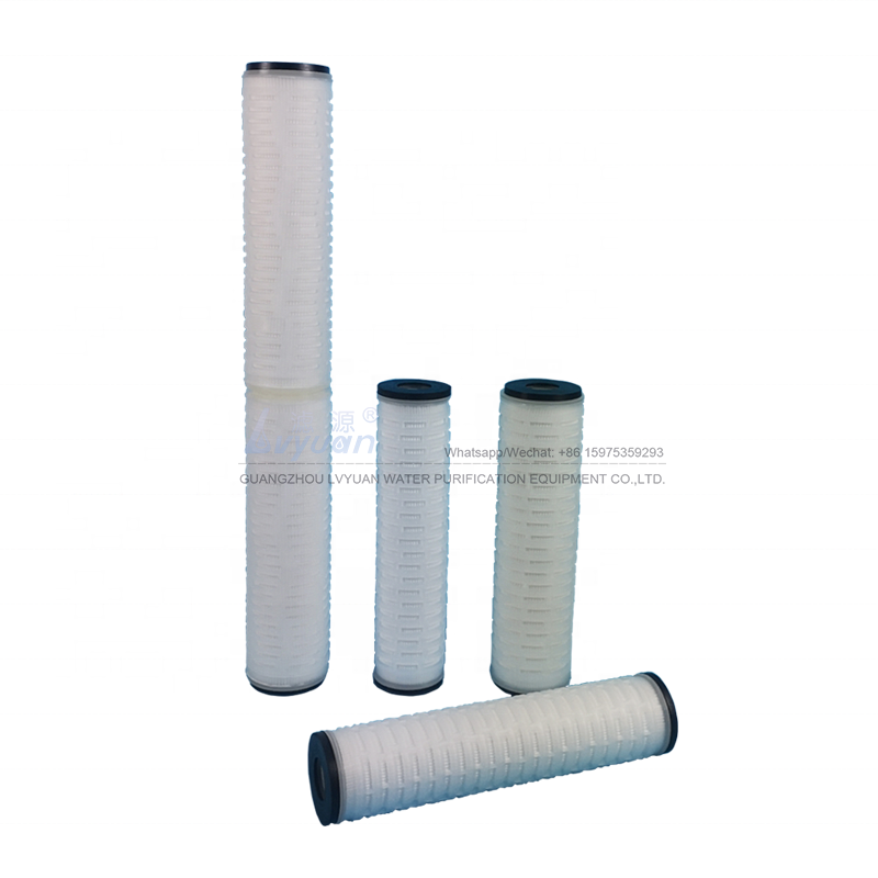 10 20 inch pleated filter replacement 0.1 0.2 micron pes pleated cartridge filter for wine beer sterile filter