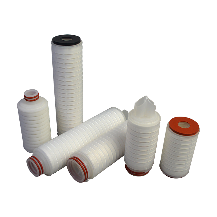 Efficient dust cartridge filter for water treatment purification