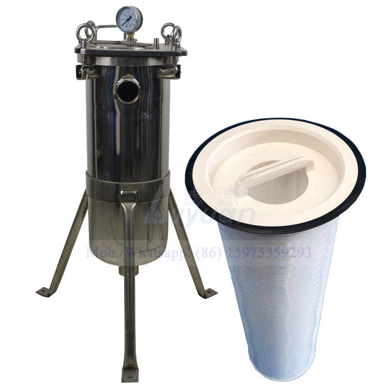 High flow 10um bag cartridge filter elements type stainless steel big water filter housing for water filter treatment system