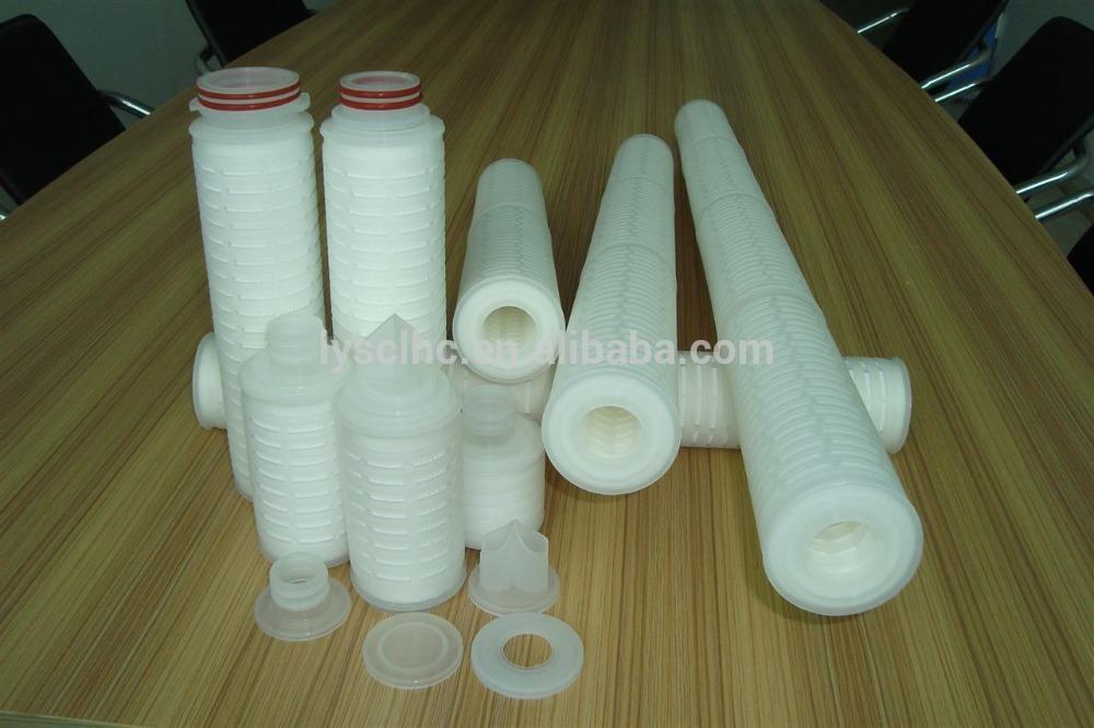 DOE end caps pleated filter cartridge for Polypropylene