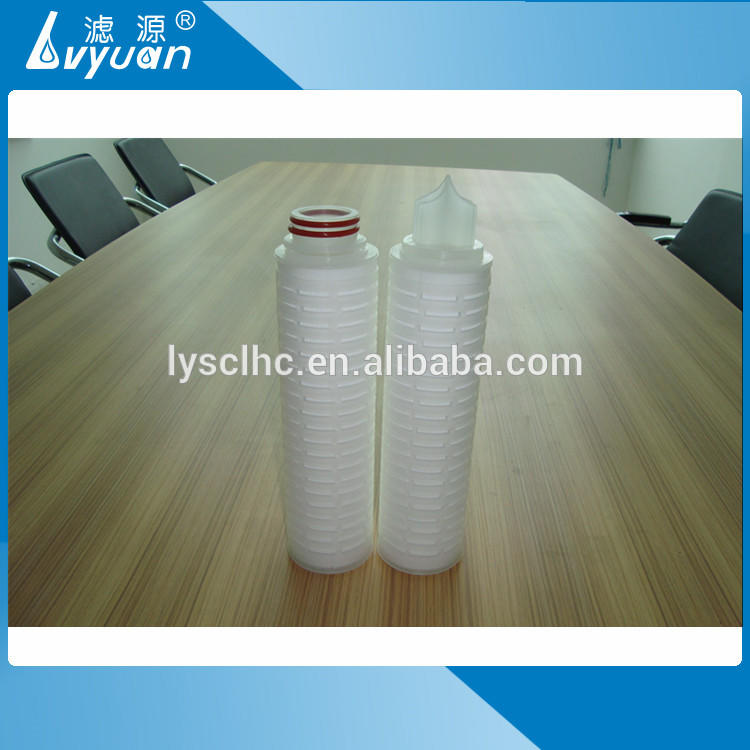 Pleated filter element 5 micron pleated filter cartridge with plastic core