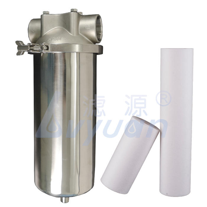 Stainless steel water treatment single cartridge 10 microns pleated filter bag cartridge