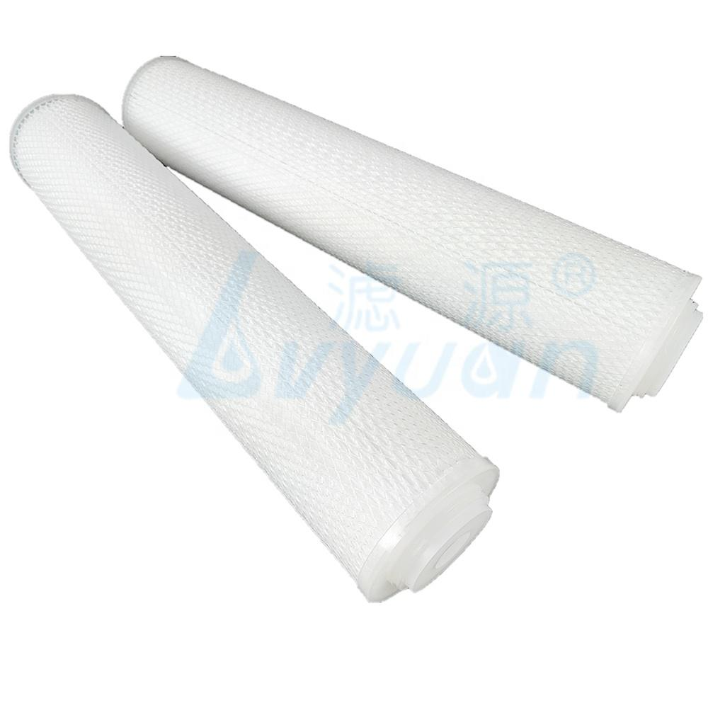 20 inch big size pleated filters with ss cartridge filter housing for water filtration
