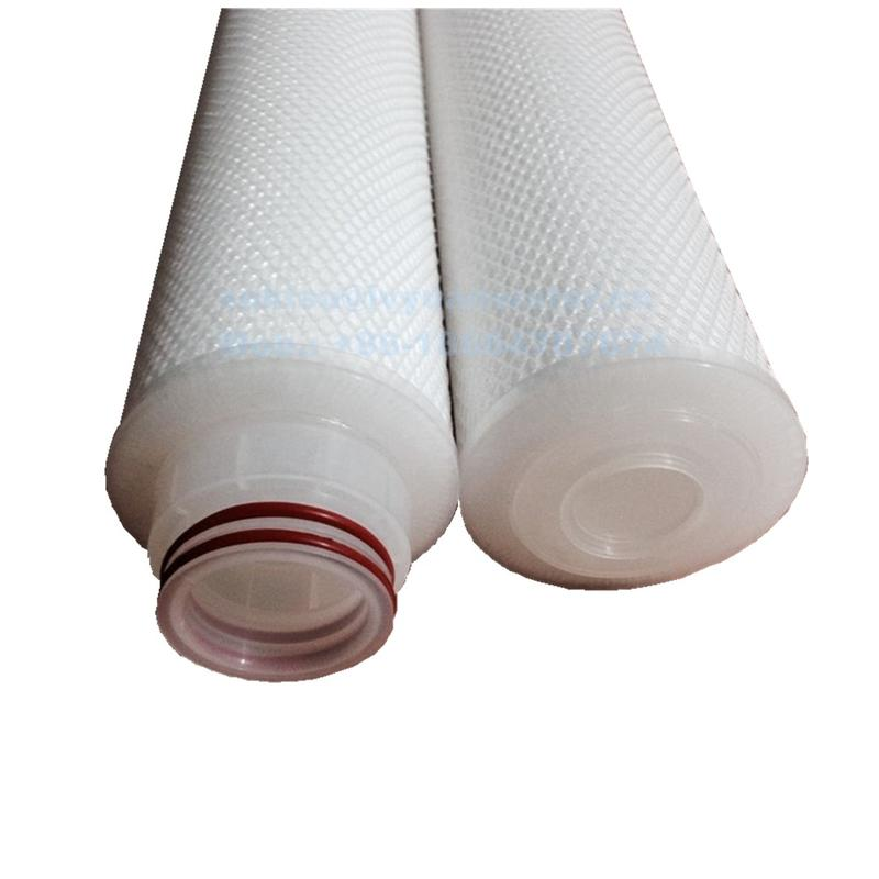 20 inch 5 Micron Jumbo PP membrane pleated water Filter Cartridge with Net end code connection 227/Fin/Flat/DOE