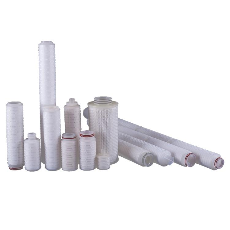 Big flow rate 1 5 10 microns pleated polypropylene filter cartridge for RO water treatment plant filter