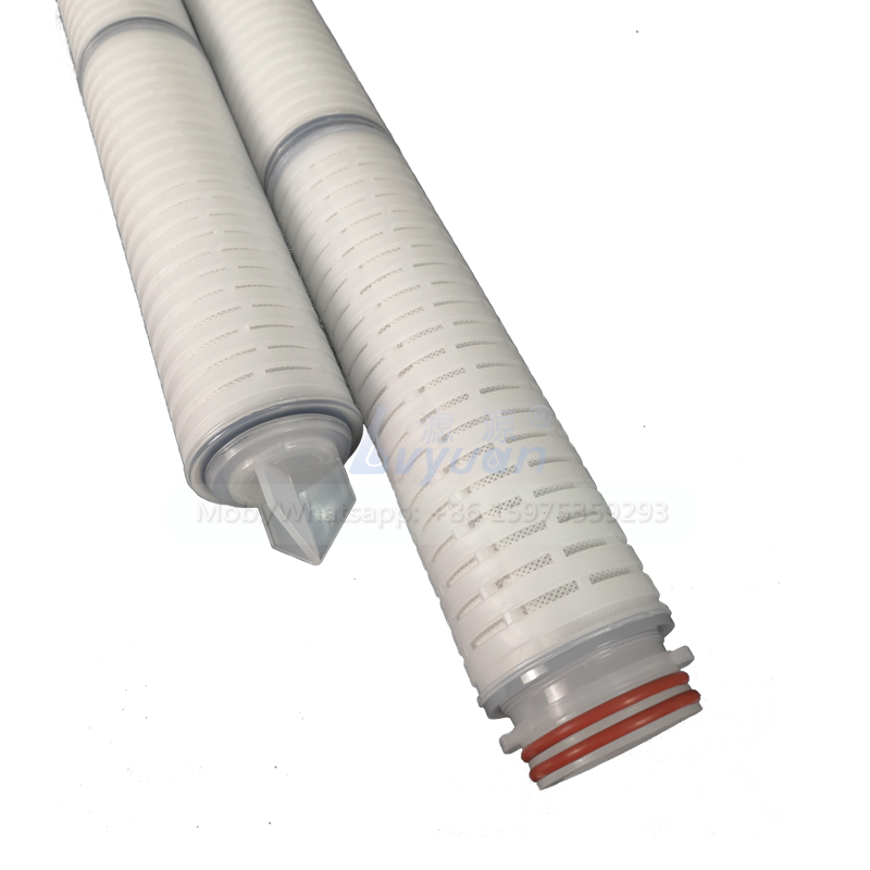 ACF type 10 20 30 40 inch carbon fiber media 226 code pleated microns filter cartridge for water treatment machinery