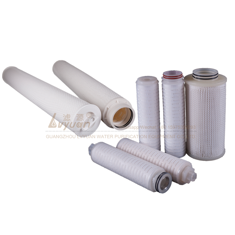 Big water flow 10 20 30 40 inch optional sizes 10 micron pp pleated filter china factory in Guangzhou