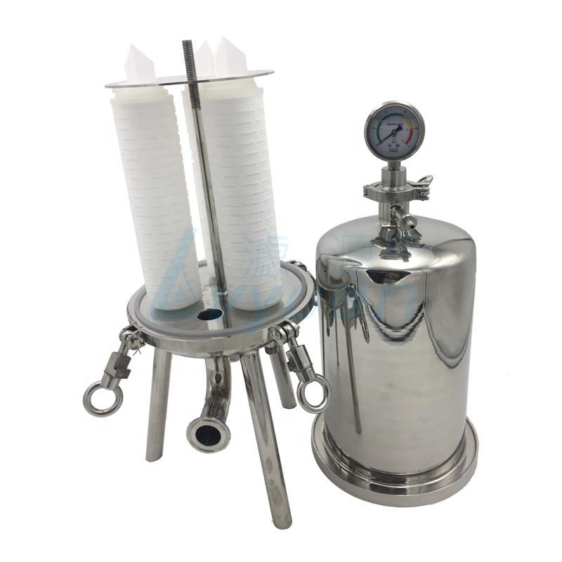 50 micron pp pleated water cartridge filters from China manufacturer with ss filter housing for wine filtration