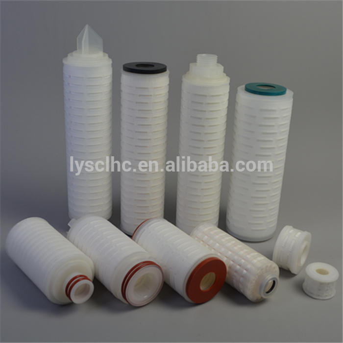 Professional water filters membrane cartridge / PP PES PVDF Nylon PTFE folding filter