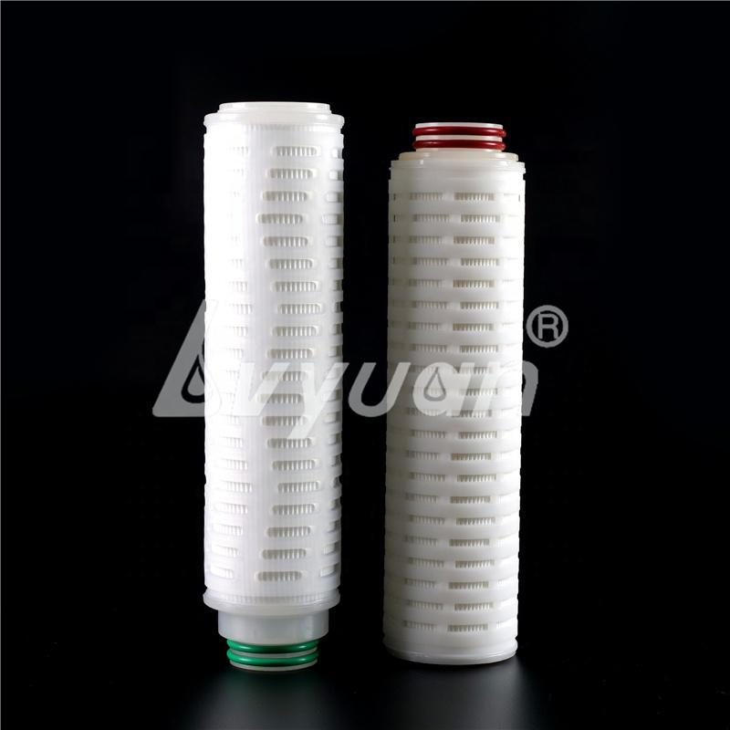 222 226 code 7 0.2 micron 10'' 20/30/40'' pleated hydrophobic ptfe filter cartridge for gas air steam filter vent filtration