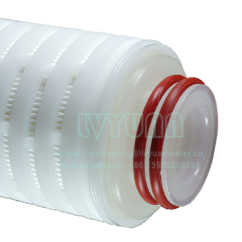 Chemical industrial absoluted rate 0.1 0.2 microns membrane pleated filter pes pleated cartridge filter for air water filtration