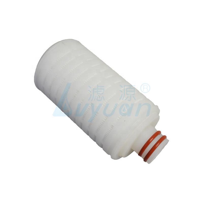 0.1um - 100 um liquid/gas filter cartridge pp mini pleat filter