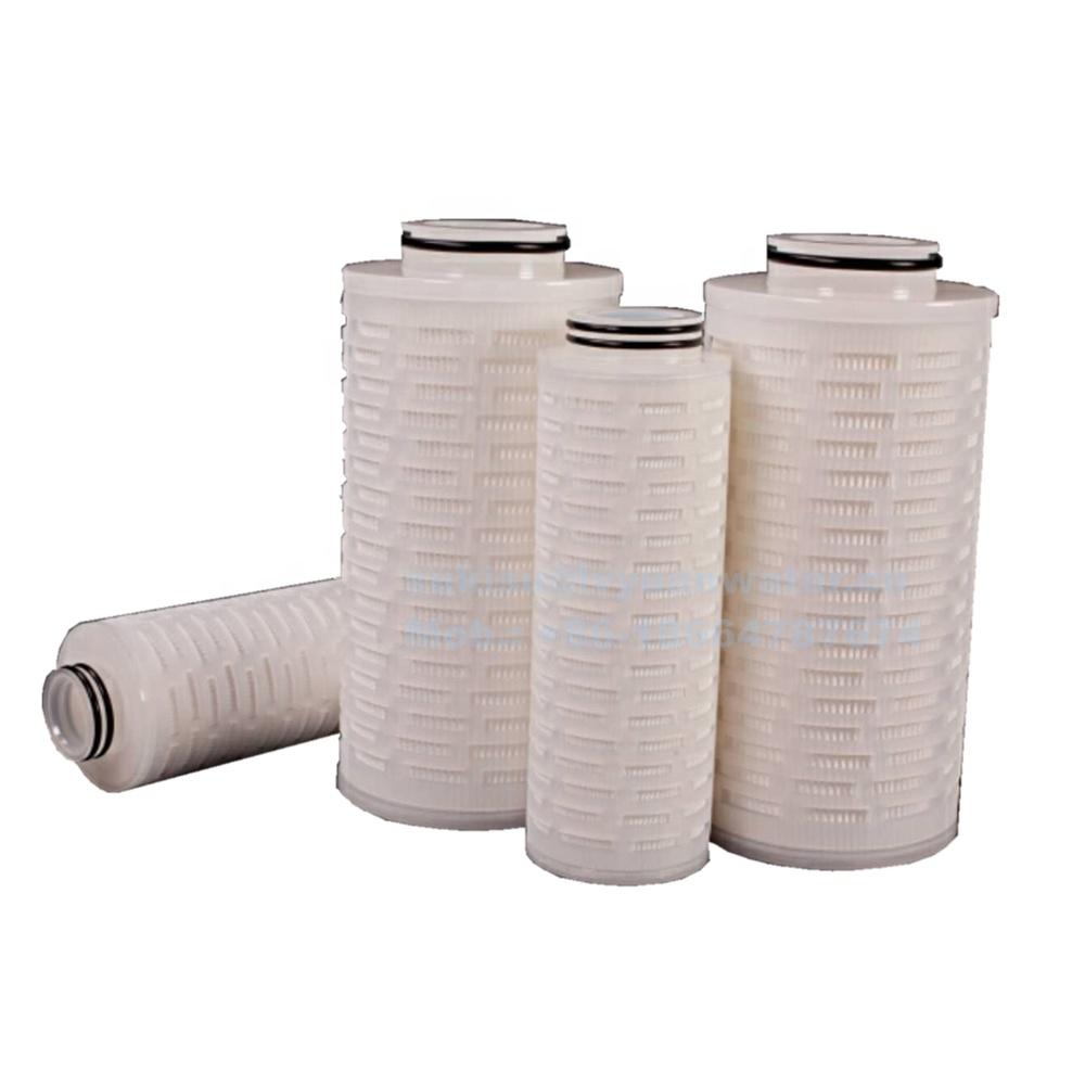 Electronics Industrial water filtration 222 226 334 end 10 inch Pleated High Flow filter cartridges with 83mm 130mm diameter
