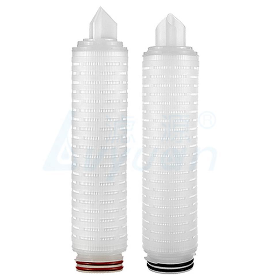 Hydrophobic PTFE membrane customized micron Pleated Filter Cartridge 0.1 0.22 micron