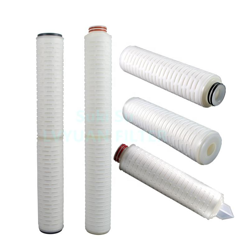 Pharmaceutical grade Absolute PES Filter 0.2 micron water filter pleated Cartridges for bottled water filters cartridge 222 DOE