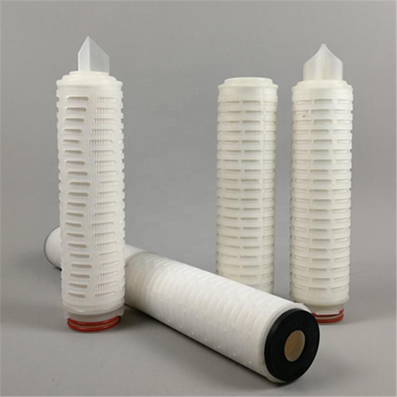 PP PTFE pleated membrane water air filter Cartridge 0.2 5 micron filters