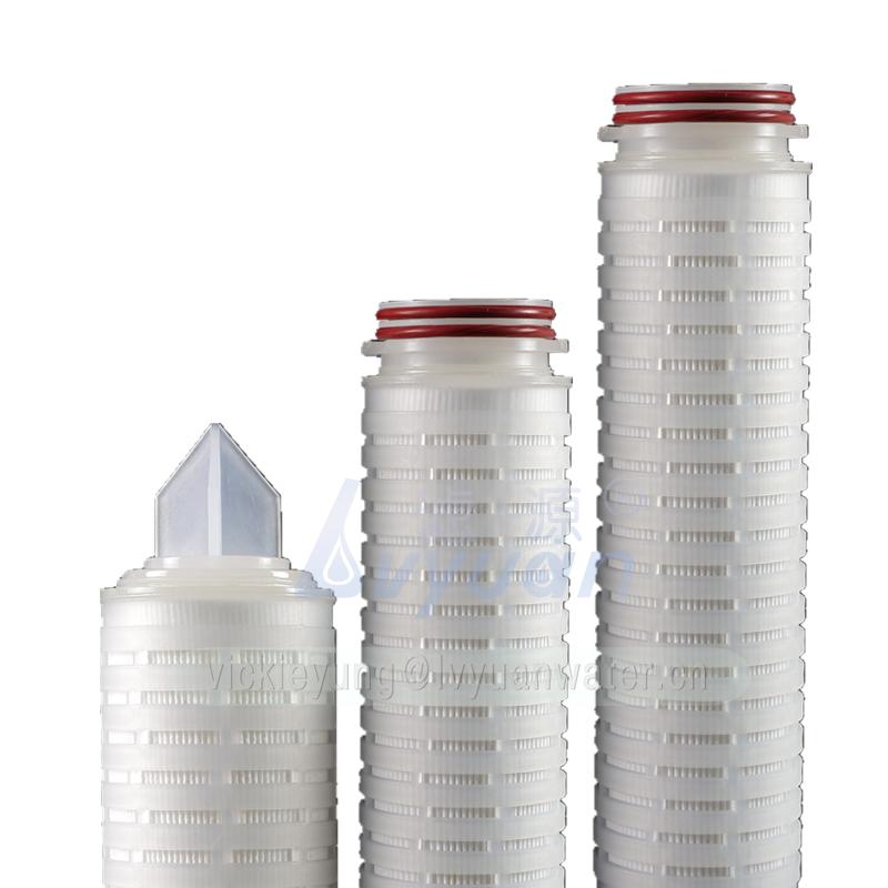 Polypropylene PP SOE 222 226 fin flat water filter 10 inch pleated cartridge filter water for water treatment housing