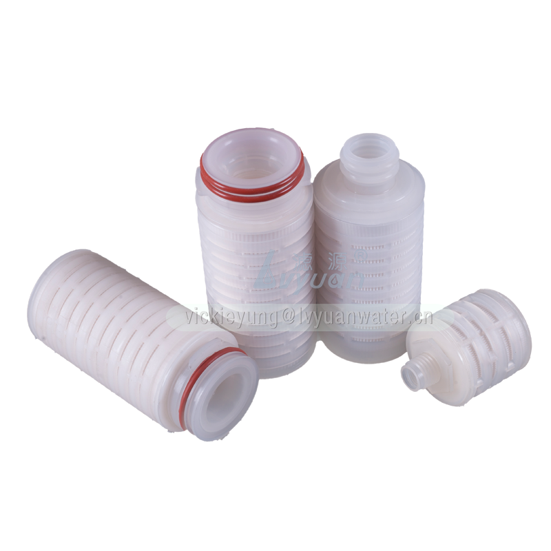 Absoluted microns PES material 2.5/5 inch 0.1 micron filter cartridge with PES pleated membrane