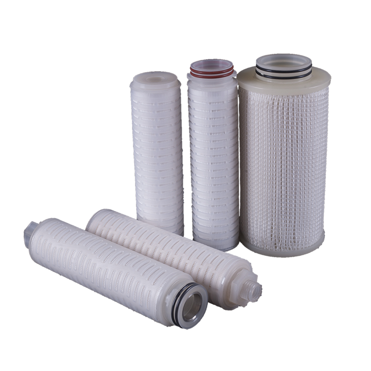 Folded types of cartridge filter Plastic pp sediment filter cartridge with 5 micron pp/ss core cartridge filter 10 inch
