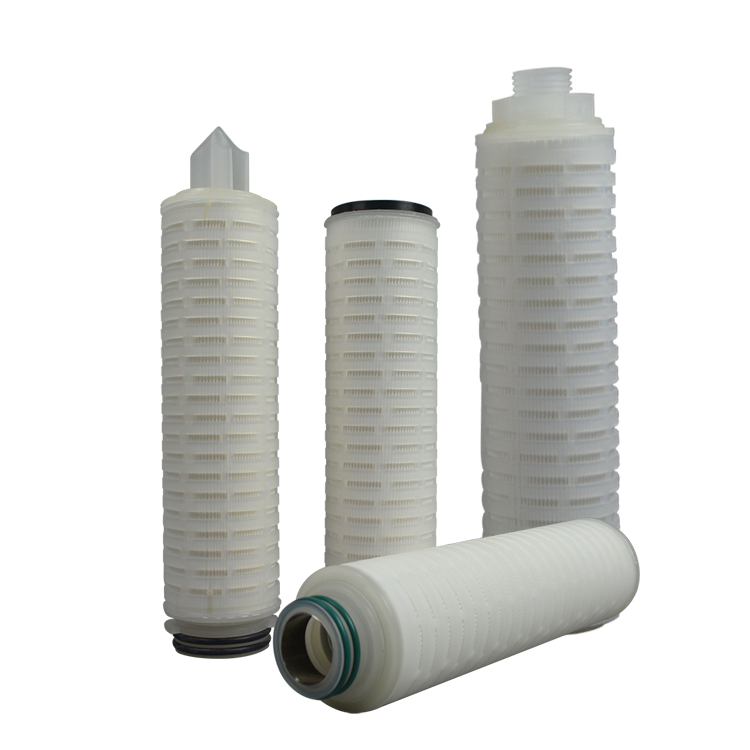 China supplier 0.22um pes pleated code 7 filter cartridge