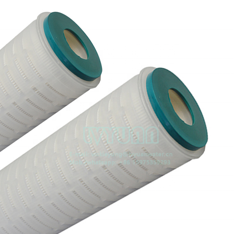 China double opened EPDM pleated 10 micron filter cartridge with 10 inch polypropylene PP core