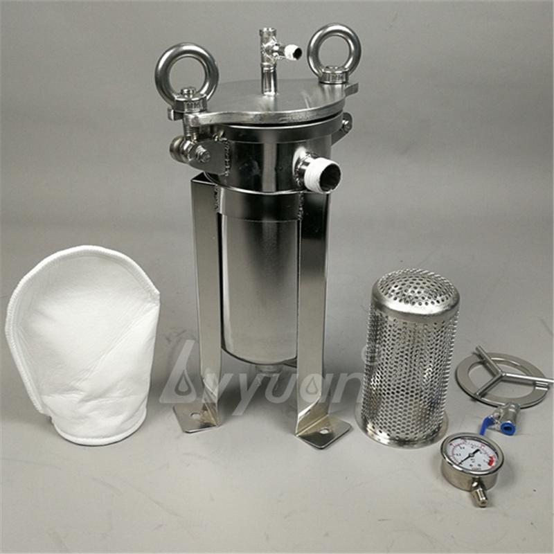 Industrial high pressurewater pre filtration stainless steel bag cartridge 32 inch 5 microns SS304 basket type filter