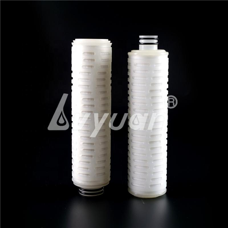 Pharmaceutical Water Treatment Beverage Filtration 0.2 0.22 0.45 1 5 10 um Nylon PTFE PP Fiber Pleated Cartridge Filter